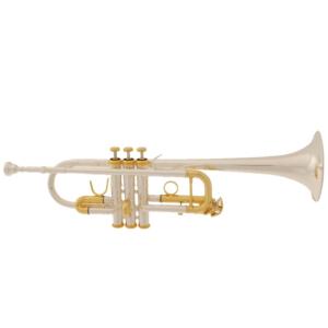 Trompete in C (versilbert) in Brassband-Ausführung