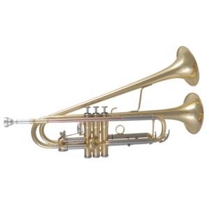 Twin Bell Trompete (mit 2 Schalltrichtern)