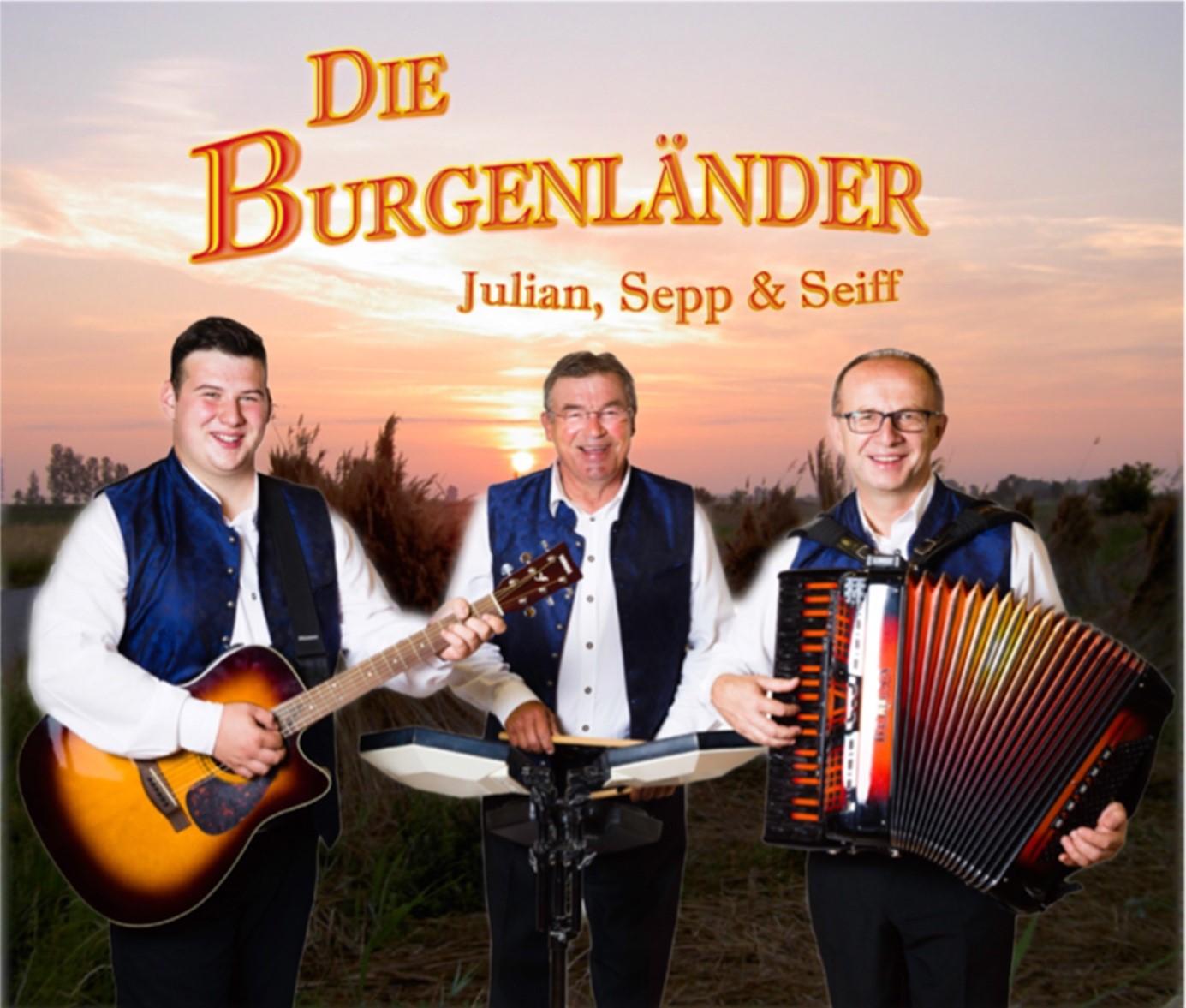 Die Burgenländer - Albumcover Julian, Sepp & Seiff
