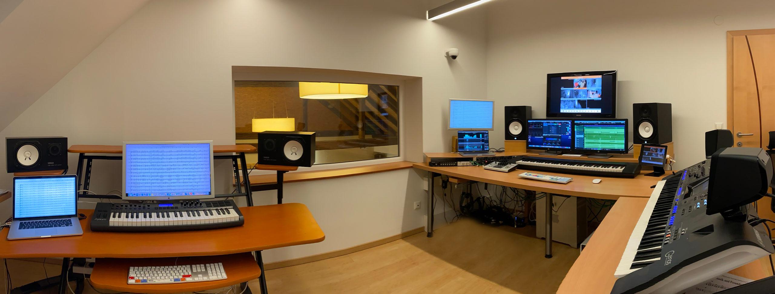 Computer und Audio Interfaces im Tonstudio Burgenland SMT-Records