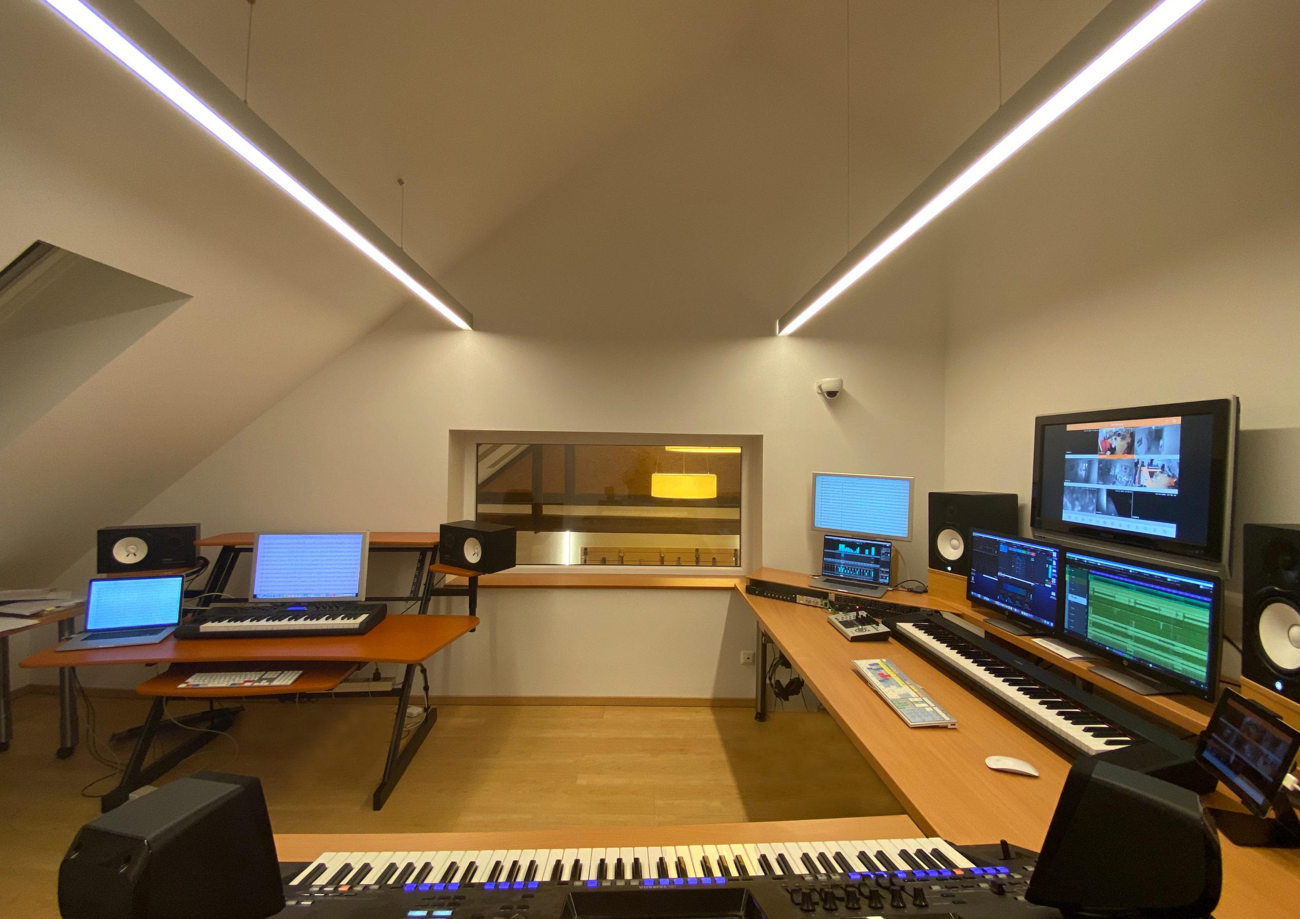 Keyboard und Aufnahme im Tonstudio Burgenland SMT Records