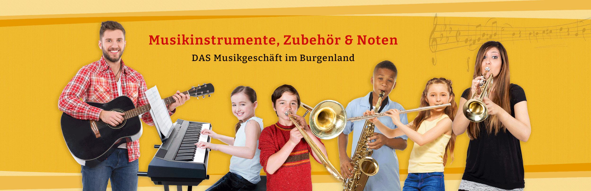 Musikgeschäft, Instrumente, Noten und mehr